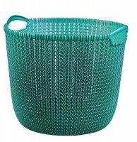 Koszyk okrągły KNIT L niebieski