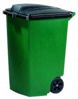 Pojemnik na odpady 100L czarna pokrywa
