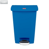 Kosz Slim Jim® Step-On 50L Resin Containers blue