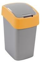 Kosz na śmieci 25L Flip Bin srebrny/pomarańczowy