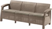 Meble ogrodowe sofa 3-osobowa CORFU cappucino/piasek