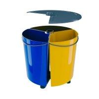 Obrotowy kosz do segregacji odpadów ECOBIN 3x11,7 L z pokrywą