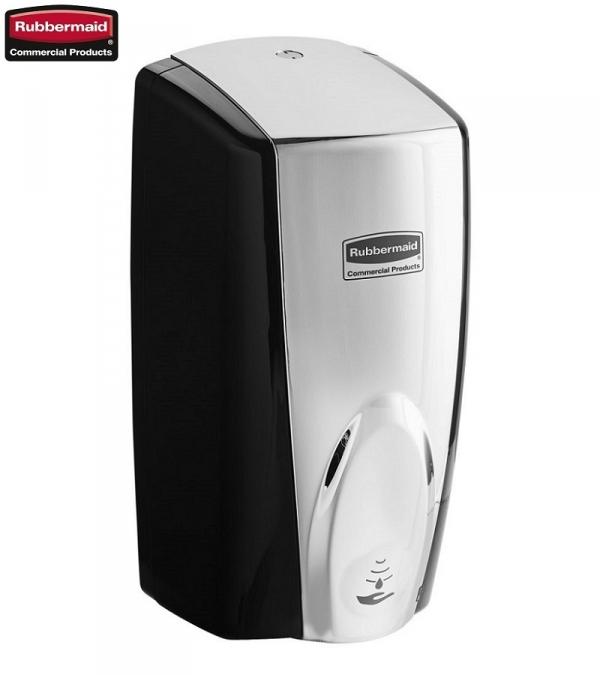 Automatyczny dozownik mydła czarny/chrom Rubbermaid
