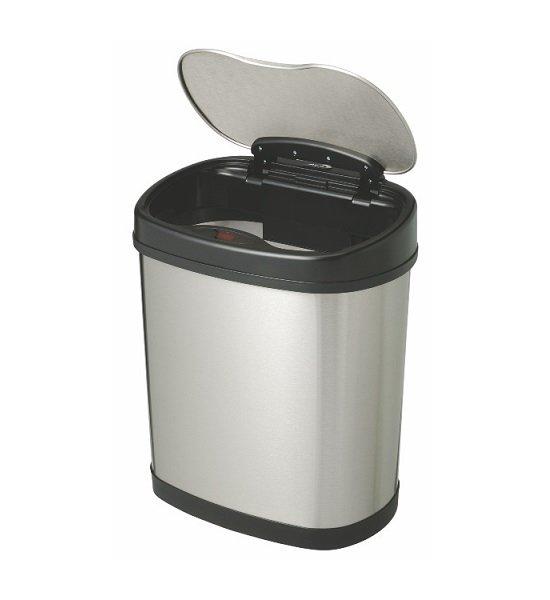 Bezdotykowy kosz na śmieci 12L owal