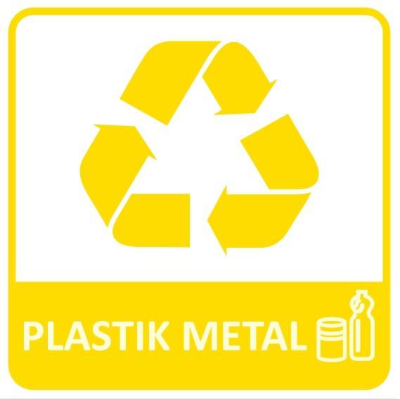 etykieta do segregacji plastik metal