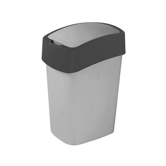 Kosz na śmieci 9L Flip Bin srebrny/grafit