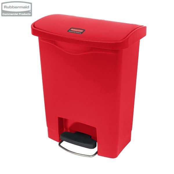 Kosz Slim Jim® Step-On 30L Resin Containers red