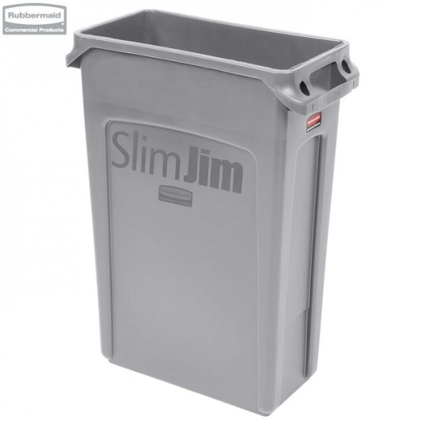 Kosz Slim Jim® With Venting 87L Grey