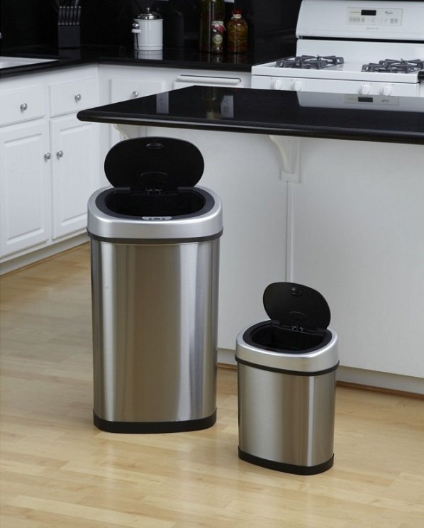 Bezdotykowy kosz na odpady 50L+12L COMBO