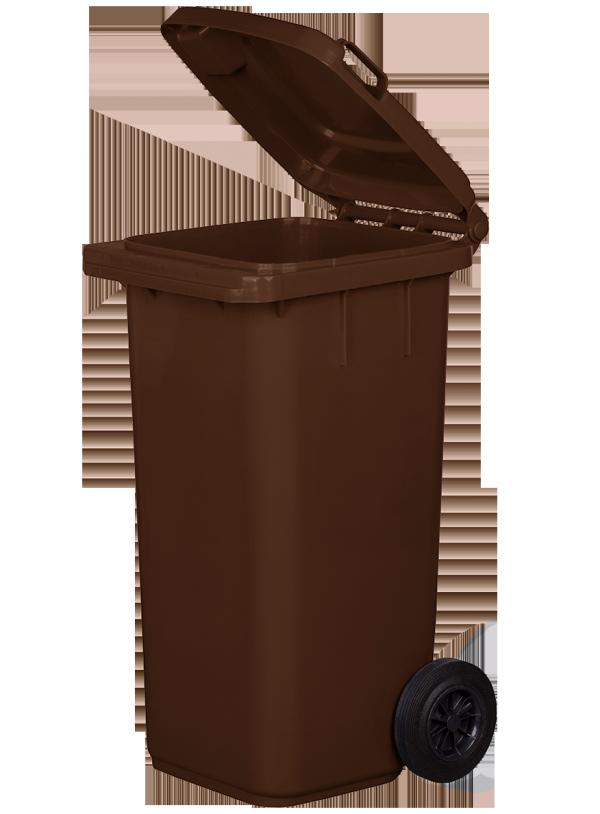 Pojemnik na odpady 120L brązowy