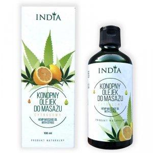 Konopny olejek do masażu - cytrusowy India, 100 ml