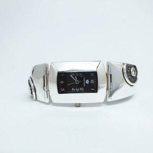Srebrny zegarek z cyrkonią kod 855