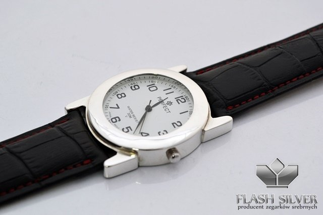Srebrny Zegarek Męski kod 1/M