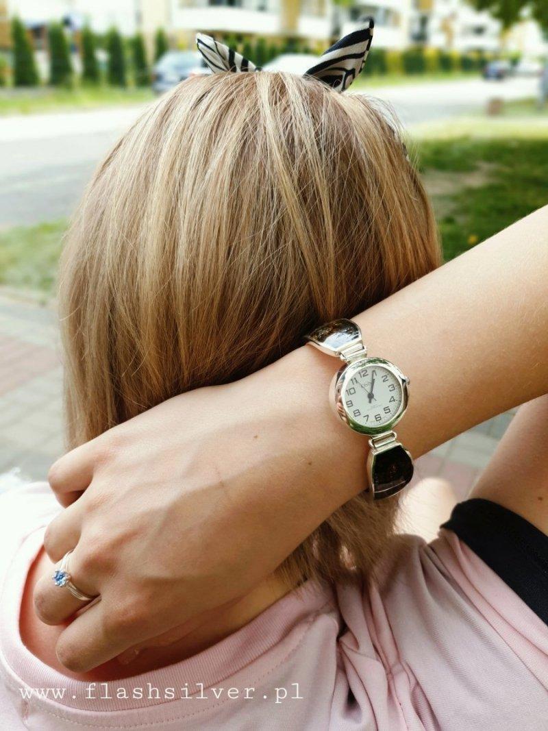 Bursztyn zegarek ze srebra kod 902- Duży Rozmiar!!!