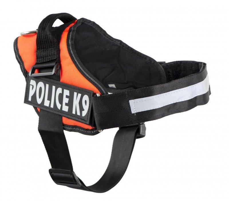 Szelki dla psa mocne XL 70-90cm Police K9 pomarańc