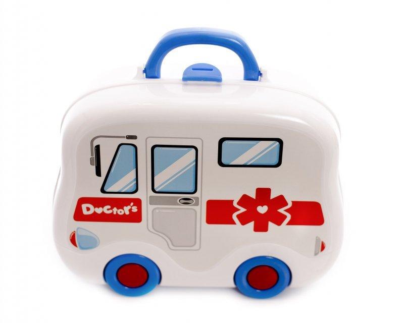 Zestaw lekarza z akcesoriami - Walizka autobus