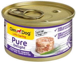 GimDog Pure Deli puszka dla psa z kurczakiem i  tuńczykiem 85g