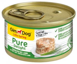 GimDog Pure Deli puszka dla psa z kurczakiem i jagnięciną 85g