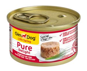 GimDog Pure Deli puszka dla psa z tuńczykiem i wołowiną 85g