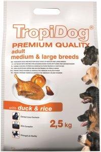 Tropidog Premium Adult Medium & Large Kaczka z Ryżem  2,5kg