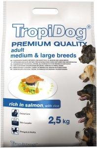 Tropidog Premium Adult Medium & Large Breeds- Łosoś z Ryżem 2,5kg