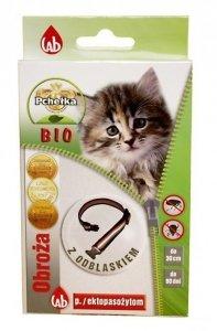 Pchełka Obroża BIO odblaskowa 30cm dla kota