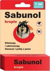Sabunol  Krople przeciw pchłom i kleszcz 1ml