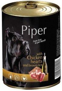 Piper puszka z sercami kurczakiem i ryżem 800g