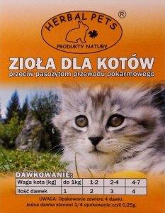 Herbal Pets Zioła Przeciw Pasożytom dla kotów 1g