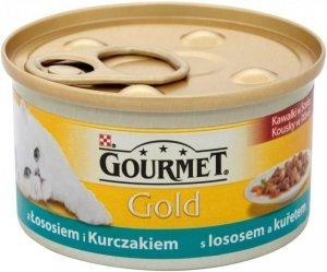 Gourmet Gold karma z łososiem i kurczakiem w sosie 85 gram