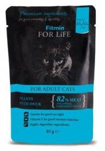 Fitmin Cat 85g For Life saszetka kaczka