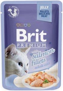 Brit Premium Cat 85g Łosoś galaretka saszetka
