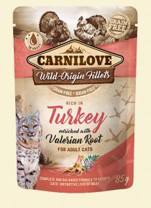 Carnilove Cat Pouch Turkey & Valerian 85g