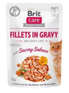 Brit Care Cat 85g Savory Salmon saszetka