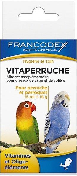 Francodex Witaminy dla papug 15ml +18g