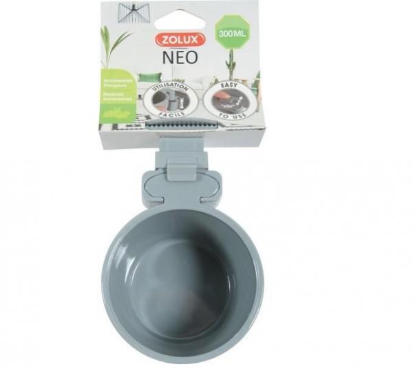 Zolux Miska plastikowa NEO zawieszana 12cm kolor szary