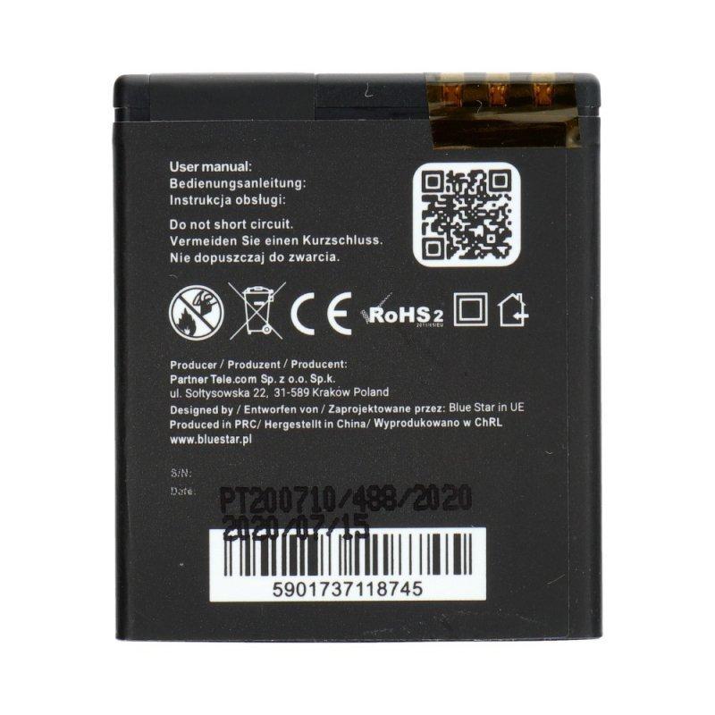 Bateria do Nokia N95/N93i/E65 1100 mAh Li-Ion Blue Star PREMIUM