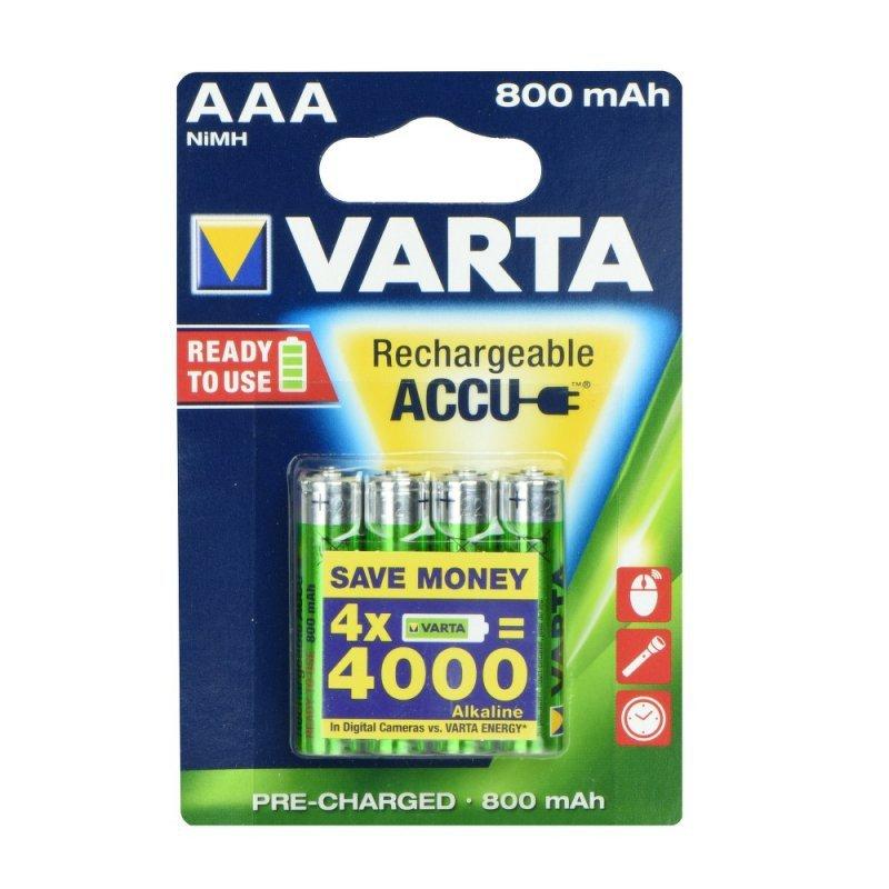 Bateria akumulatorowa VARTA R3 800 mAh (promo 3+1) ready 2 use
