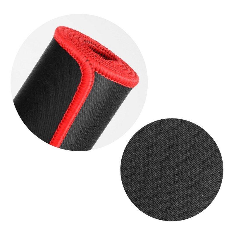 Podkładka pod klawiaturę i mysz dla graczy 900x400x3mm / czarny / obszycie czerwone