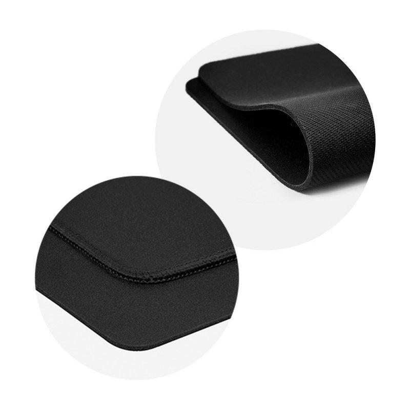 Podkładka pod mysz 350x250x3mm / czarny / obszycie czarne