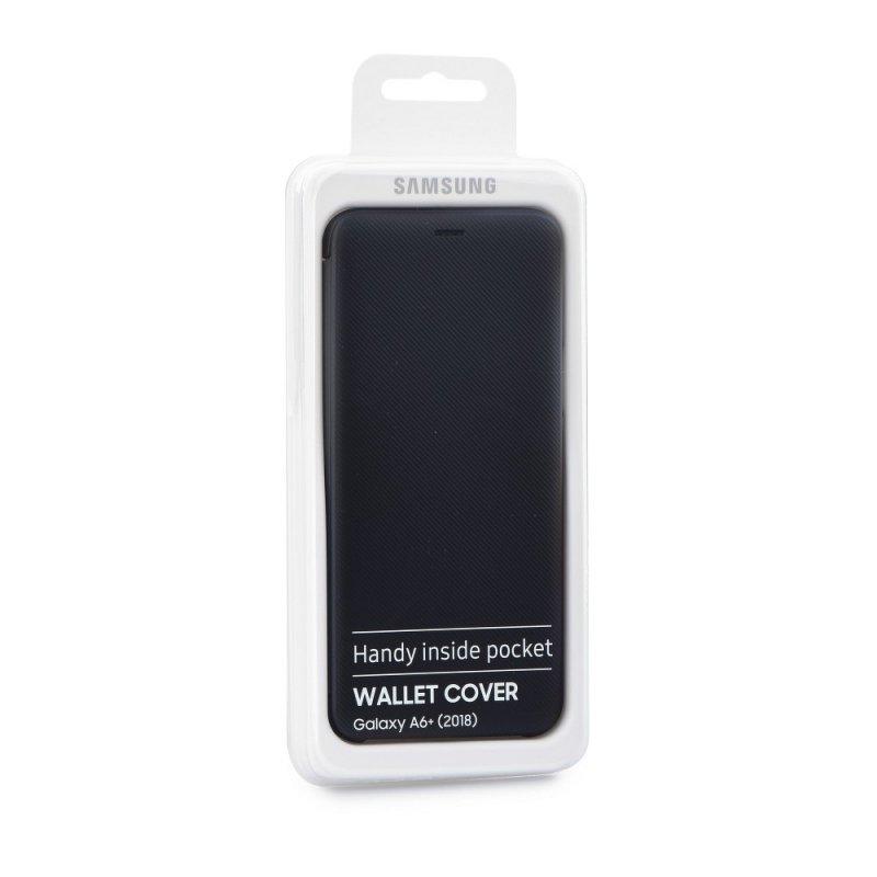 Oryginalny Futerał Wallet Cover EF-WA605CBEGWW Samsung Galaxy A6+ 2018 czarny blister