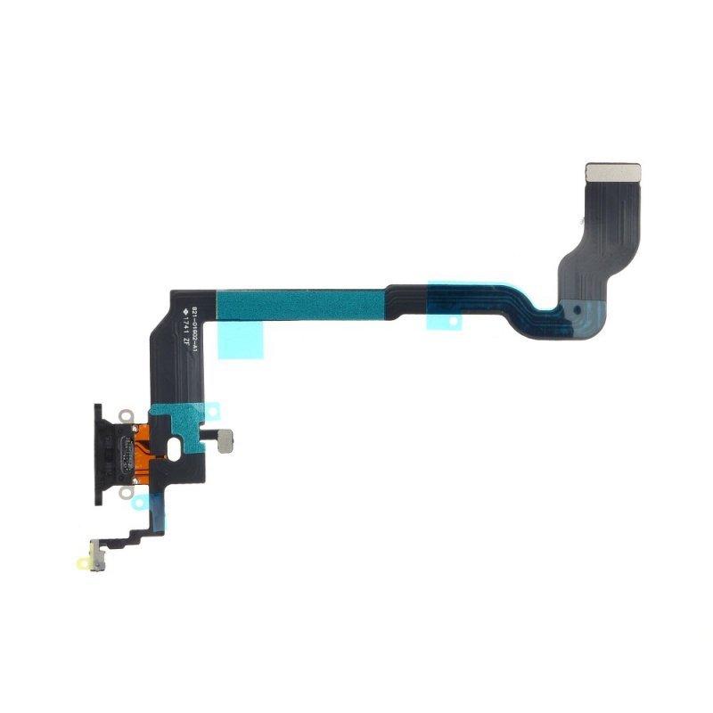 Taśma do IPHONE X  ze złączem ładowania - czarna