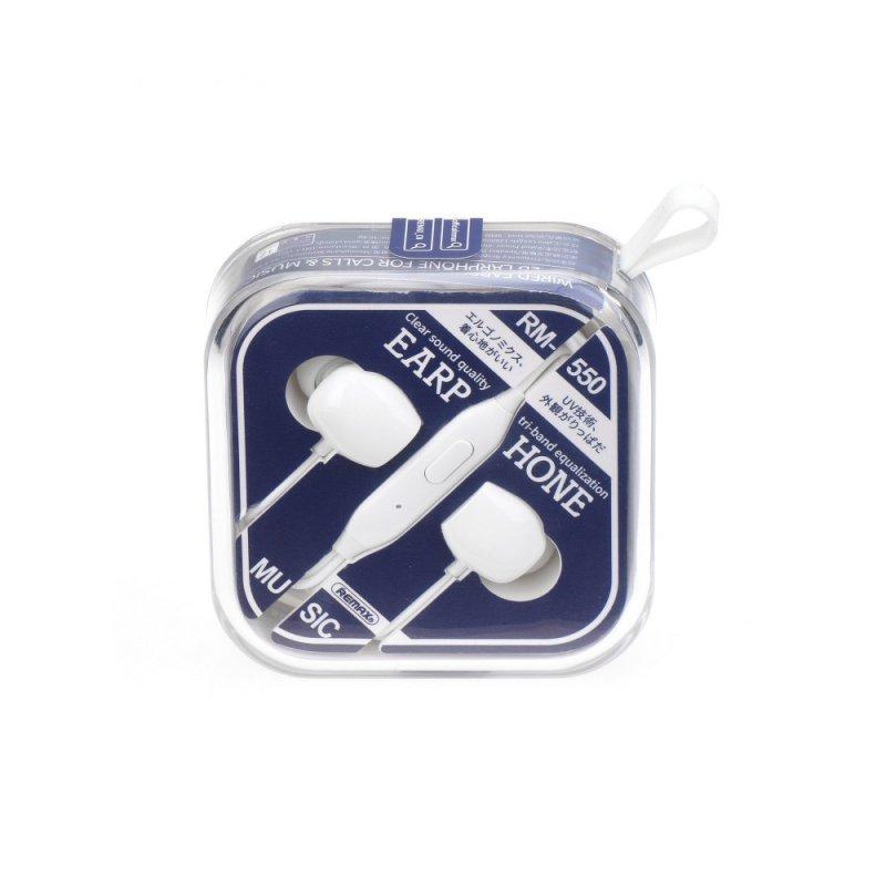 REMAX zestaw słuchawkowy / słuchawki RM-550 biały