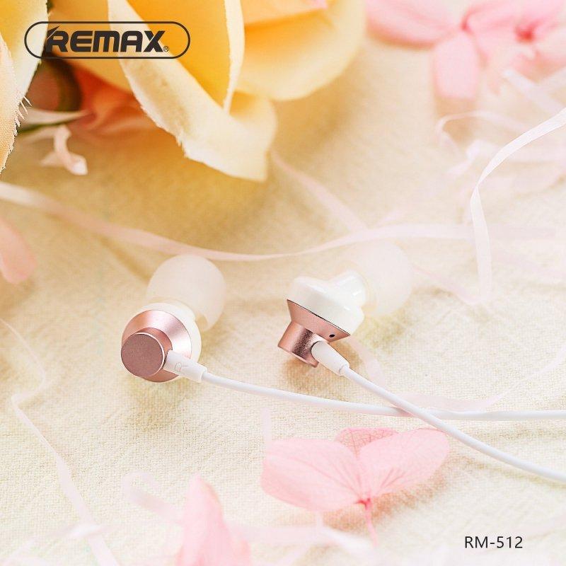 REMAX zestaw słuchawkowy / słuchawki RM-512 czerwony