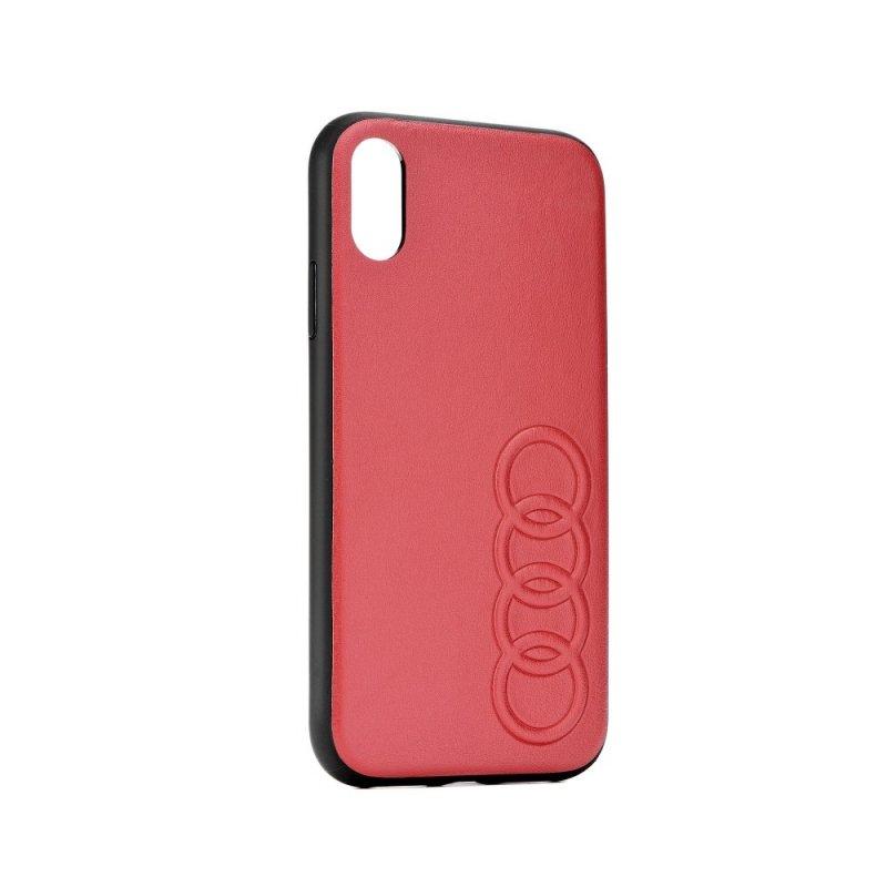 Oryginalne Etui AUDI Leather Case AU-TPUPCS10E-TT/D1-RD do Samsung S10e czerwone
