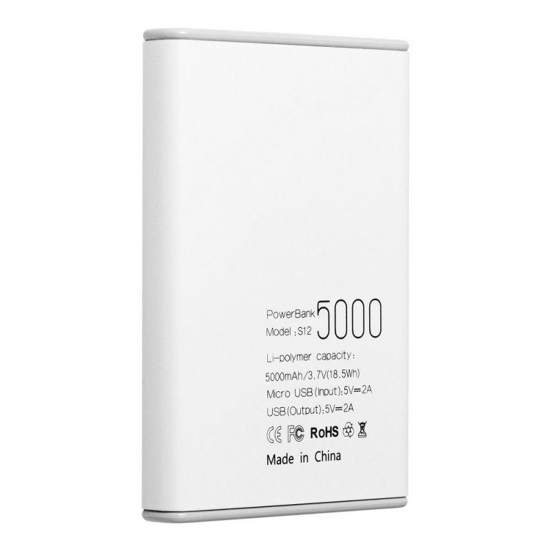Bateria zewnętrzna (POWER BANK) PURIDEA S12 5000 mAh biały