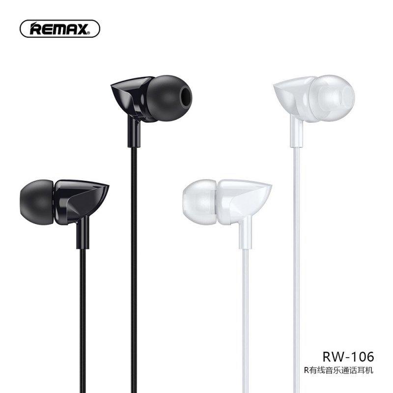 REMAX zestaw słuchawkowy / słuchawki RW-106 czarne