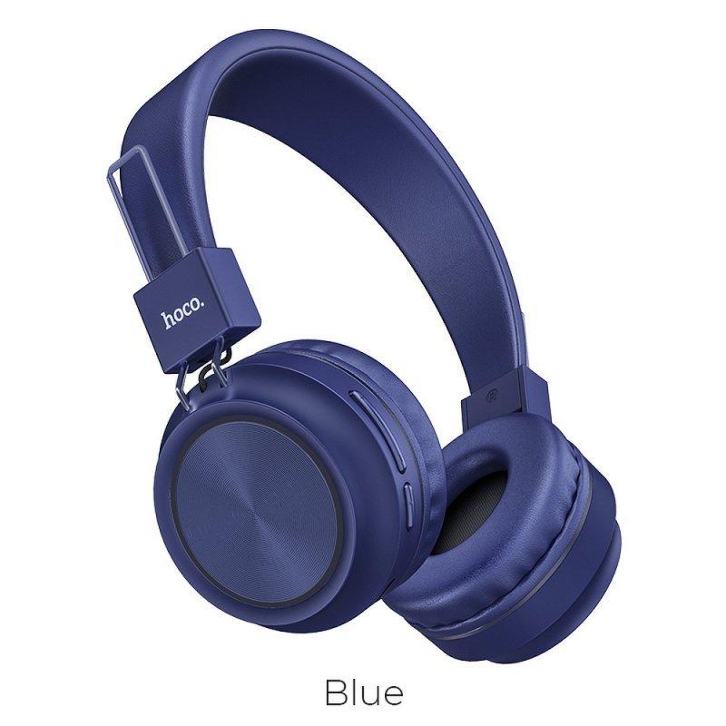 HOCO słuchawki bluetooth nagłowne Promise W25 niebieski
