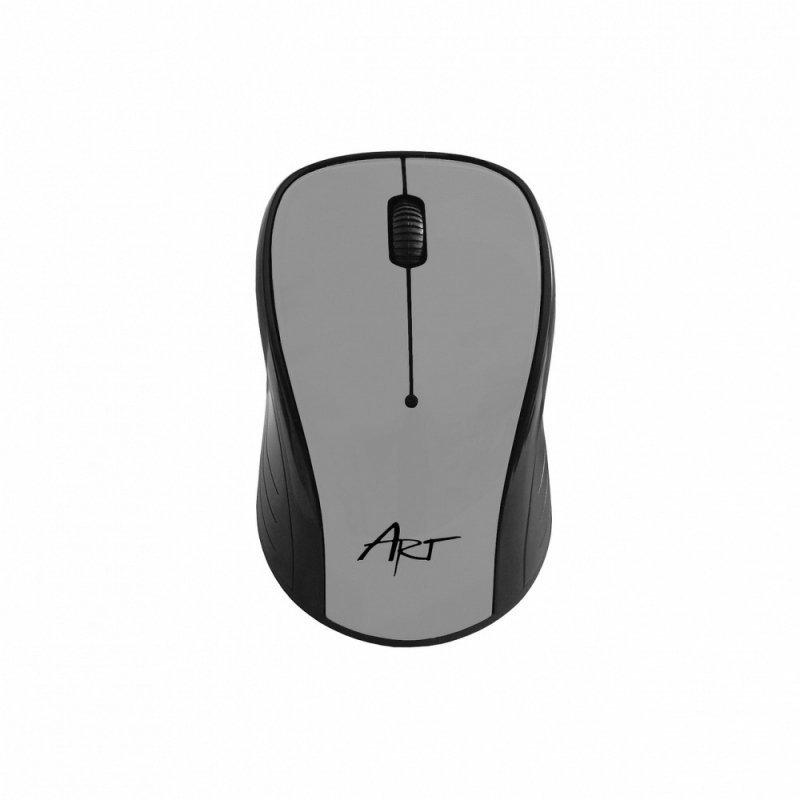 Mysz / Myszka  ART  bezprzewodowa-optyczna USB AM-92 srebrna