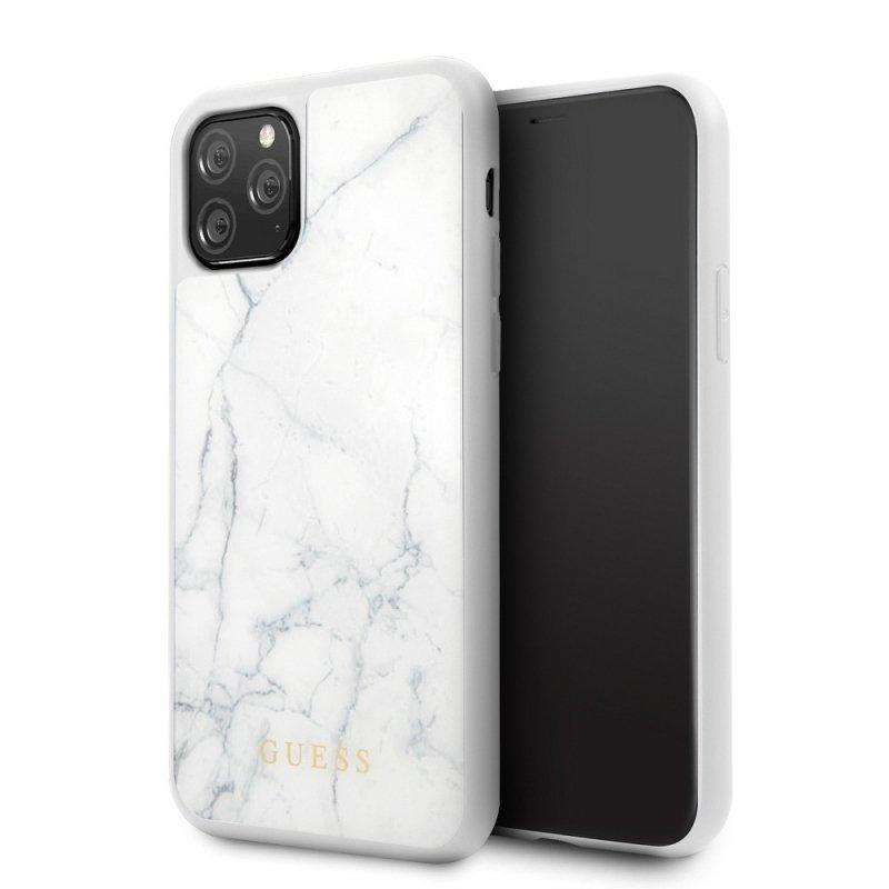 Oryginalne Etui GUESS Hardcase GUHCN58HYMAWH do iPhone 11 Pro  biały